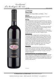 Classique Pinot Noir - Grillette