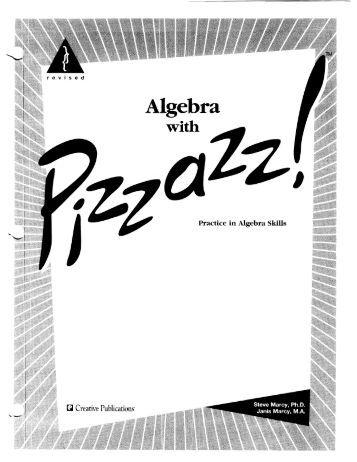 Pre-Algebra With Pizzazz Answers : Ukrobstep.com