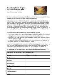 Bewerbung für die Vergabe der Ehrenamtskarte ... - Stadt Leverkusen