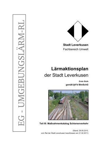 Symbol für einen internen LinkLärmaktionsplan ... - Stadt Leverkusen