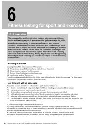 Unit 6: Fitness testing for sport and exercise - Pearson Schools
