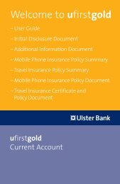 Welcome to ufirstgold - Ulster Bank