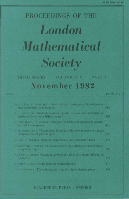 Front Matter (PDF) - Proceedings London Mathematical Society
