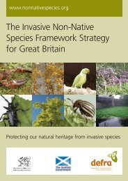 The Invasive Non-Native Species Framework Strategy for ... - Defra