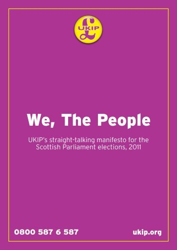 ManIFEsto - UK Independence Party