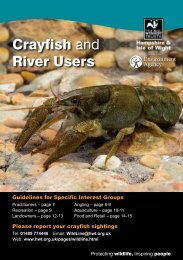 Crayfish and River Users - Environment Agency