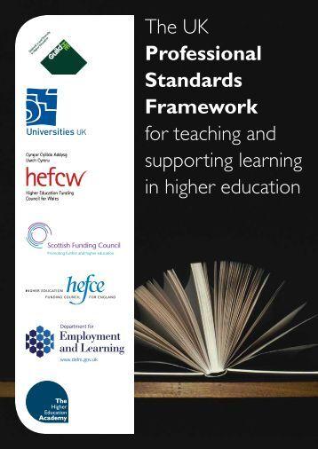 UK Professional Standards Framework for teaching and - Higher ...