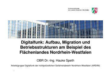 Digitalfunk: Aufbau, Migration und Betriebsstrukturen am Beispiel
