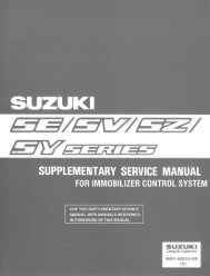 supplementary service manual for immobilizer control system