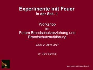 Experimente mit Feuer - Landesfeuerwehrverband Niedersachsen