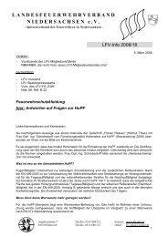 LFV-Info 18-2008 - Feuerwehrschutzkleidung - Infoportal der ...