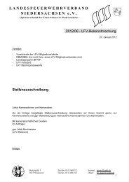 Stellenausschreibung - Landesfeuerwehrverband Niedersachsen