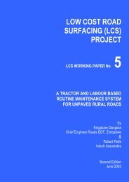 LCS Working Paper No. 5 - Transport for Development