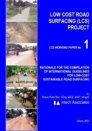 Low cost road surfacing - International Labour Organization
