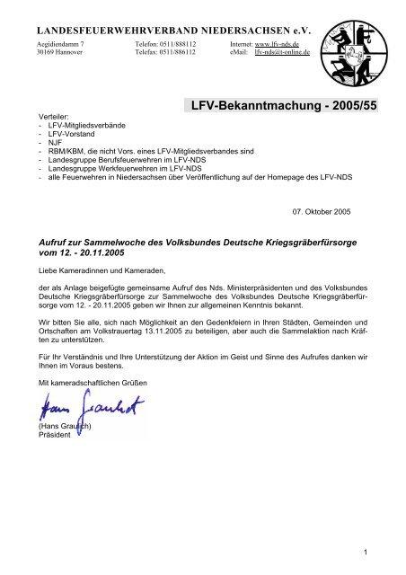 LFV-Bekanntmachung - 2005/55 - Landesfeuerwehrverband ...