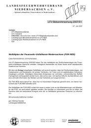 Notfallplan der Feuerwehr-Unfallkasse Niedersachsen (FUK-NDS)