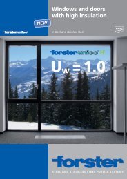Windows and doors with high insulation - Forster Profile