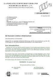 Die Feuerwehr in Zahlen - Landesfeuerwehrverband Niedersachsen