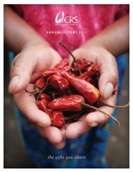Annual Report 2011 - Catholic Relief Services