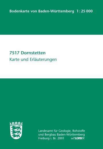 7517 Dornstetten Karte und Erläuterungen - Landesamt für ...