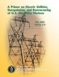 A Primer on Electric Utilities, Deregulation - EERE - U.S. Department ...