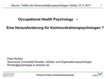 Richter: Occupational Health Psychology - Alumni-Tag
