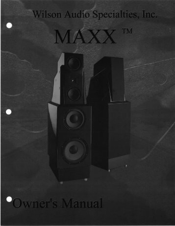 MAXX Series 1 - Wilson Audio