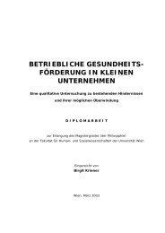 Diplomarbeit Mag. Birgit Kriener - Österreichisches Netzwerk ...