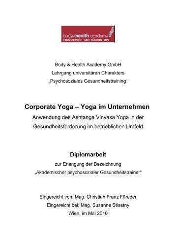 Diplomarbeit - Ashtanga Vinyasa Yoga mit Marija & Christian
