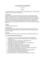 UCPB Meeting Minutes 4/1/09 - State of Michigan
