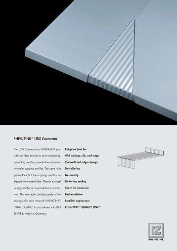 RHEINZINK®-UDS Connector - RIBA Product Selector