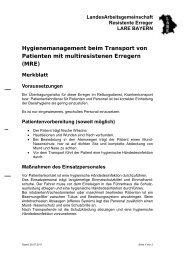 Hygienemanagement beim Transport von Patienten mit - Bayern