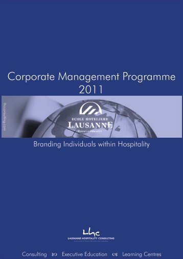 Corporate Management Programme 2011 - Lausanne Hospitality ...