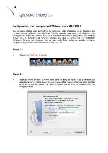 Configuration d'un compte mail Websud sous MAC - Gruyère Energie