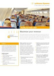 ProfitLine/Yield O&D – Maximize your revenue - Lufthansa Systems
