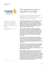 The optimum route to significant savings - Lufthansa Systems