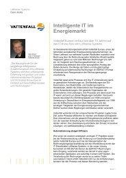 Intelligente IT im Energiemarkt - Lufthansa Systems