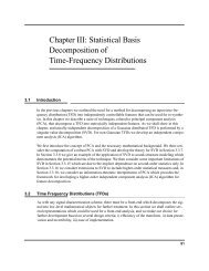 Chapter III: Statistical Basis Decomposition of Time-Frequency ...