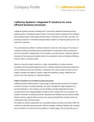 Company Profile - Lufthansa Systems