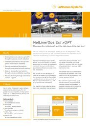NetLine/Ops Tail xOPT - Lufthansa Systems