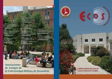 Asociaciones de Amigos de la Universidad Hebrea de Jerusalem ...