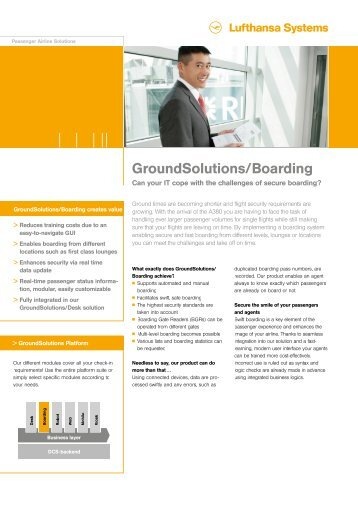 GroundSolutions/Boarding - Lufthansa Systems