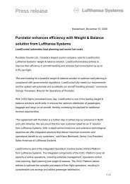 Press release - Lufthansa Systems