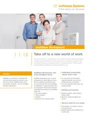 Take off to a new world of work - Lufthansa Systems