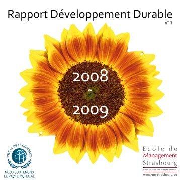 Télécharger le rapport développement durable - EM Strasbourg ...