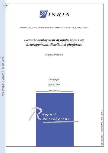 Déploiement générique d'applications sur plates-formes ...
