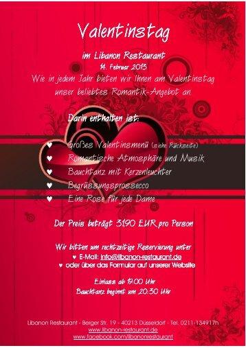 Valentinstag Valentinstag - Libanon Restaurant
