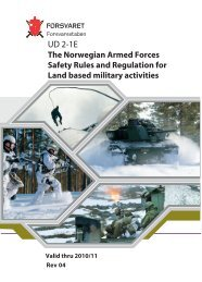 The Norwegian Armed Forces Safety Rules and Regulation