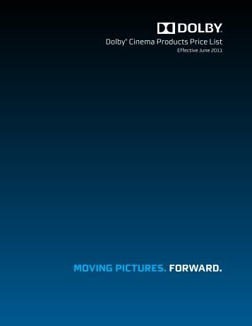 Dolby® Cinema Products Price List - Pro-Technica