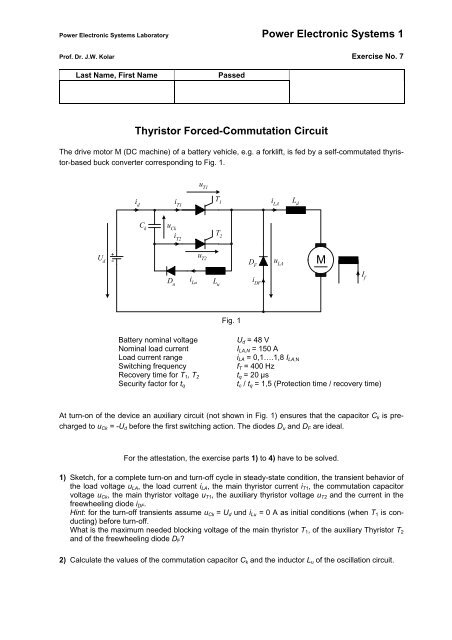 b9b3cdc73 Power Electronic Systems 1 Thyristor Forced-Commutation Circuit